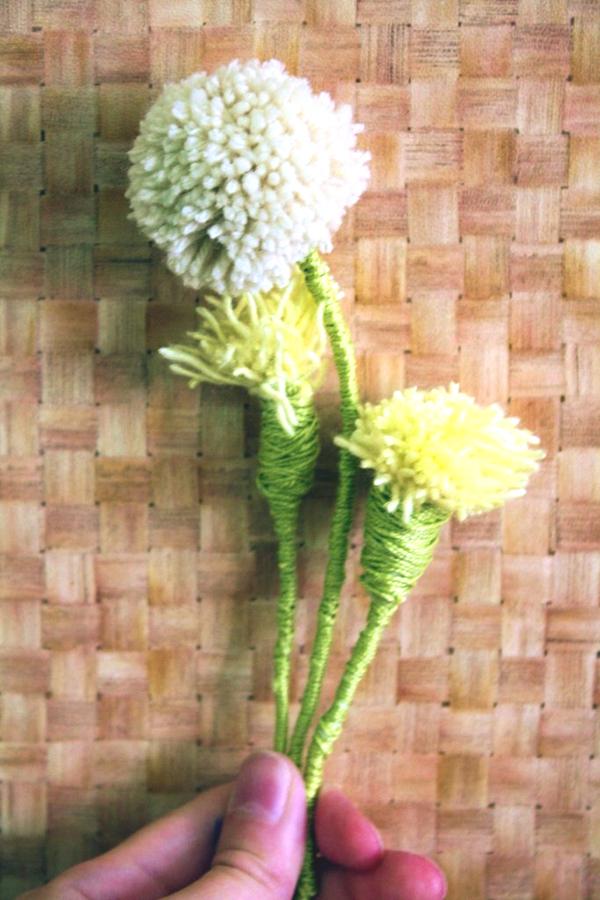 Цветы из ниток своими руками 91