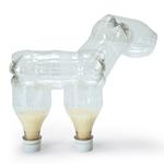 Как сделать зебру из пластиковых бутылок